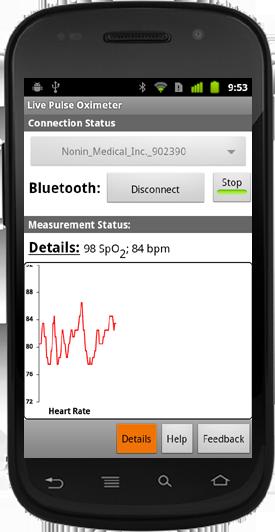 Live Pulse Oximeter